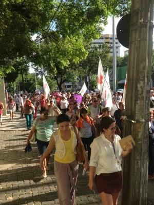 protesto agente de endemias (Foto: TV verdes mares)