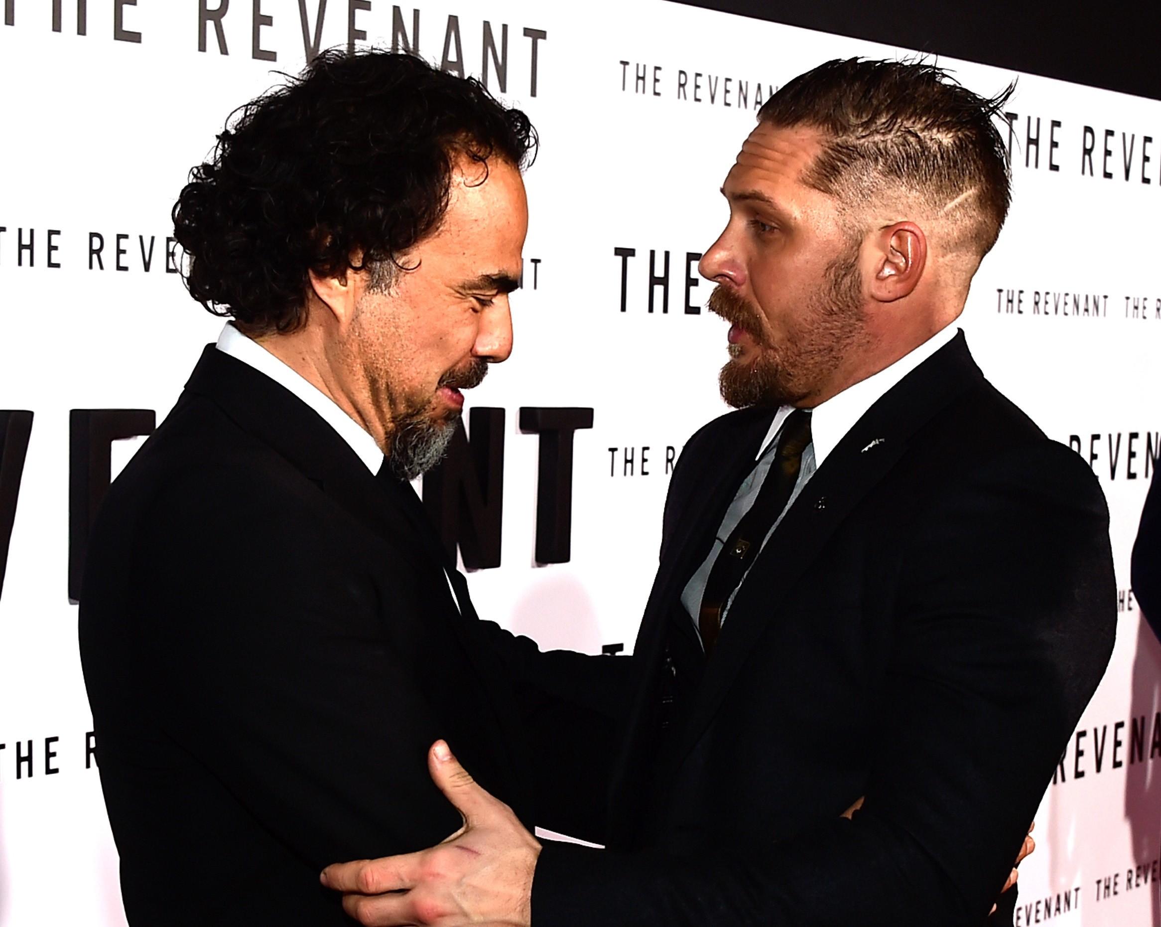 Alejandro González Iñárritu e Tom Hardy (Foto: Getty Images)