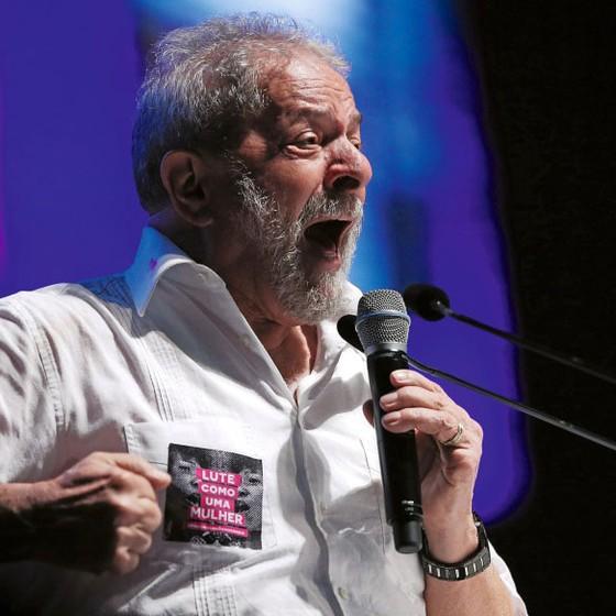 Lula num congresso de educação em Brasilia  em 2017 (Foto:  Adriano Machado/REUTERS)