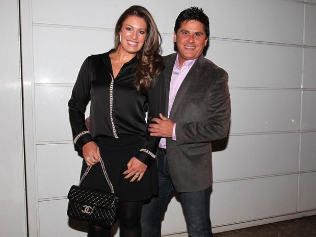 Elaine Mickely e César Filho em festa em São Paulo (Foto: Manuela Scarpa/ Foto Rio News)