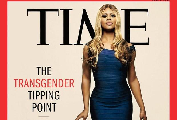 A atriz transexual Laverne Cox na capa da Time (Foto: Reprodução / Time)