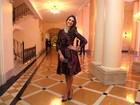 Vestido de Bruna Marquezine deixa atriz 'cheinha' em evento