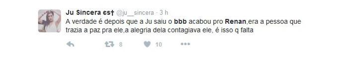 Tweet Renan (Foto: Reprodução)