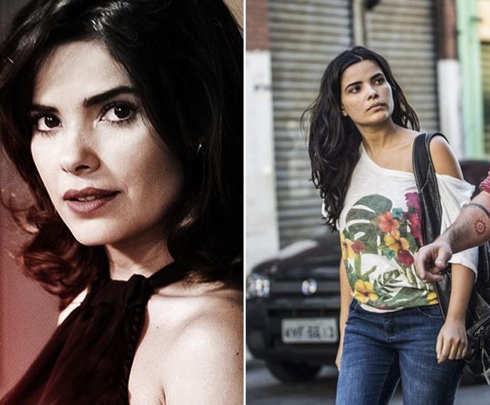 Vanessa Giácomo como Aline, de Amor à Vida e agora, como Tóia, de A Regra do Jogo (Foto: João Miguel Júnior/ Globo)