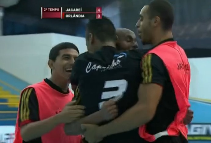 FRAME - Jacareí x Orlândia liga paulista de futsal (Foto: Reprodução SporTV)