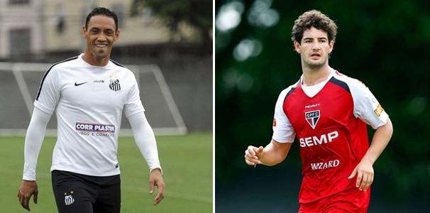 Os artilheiros Ricardo Oliveira e Pato se enfrentam no clássico (Foto: reprodução Globoesporte.com)