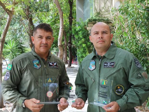 Professor da Unifor, Dr. Eduardo Henrique, e o 2.º SGT PM Edvaldo José Santana Flexa, se destacam em competição nacional de resgate. (Foto: Gabriel Goersch)
