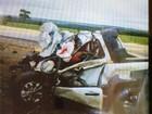 Colisão entre utilitário e duas carretas mata duas pessoas em rodovia de MT