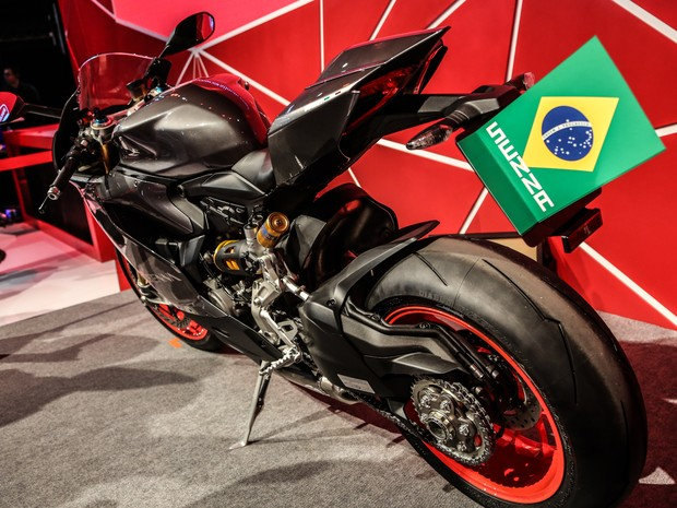 Panigale S em homenagem a Ayrton Senna (Foto: Raul Zito/G1)