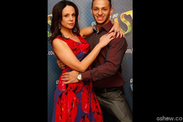 Vanessa Gerbelli e Deny Ronaldo (Foto: Raphael Dias/ TV Globo)