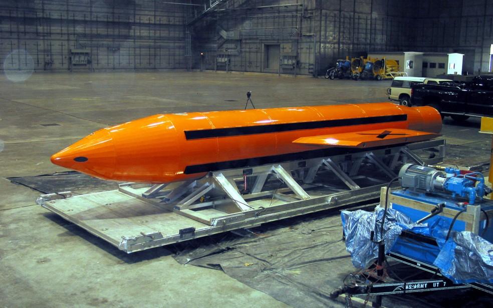 Moab é a arma mais poderosa depois das bombas atômicas (Foto: Reuters/Stringer/File Photo)