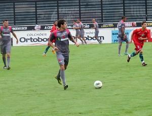 Fabrício no jogo treino do Vasco (Foto: André Casado / Globoesporte.com)