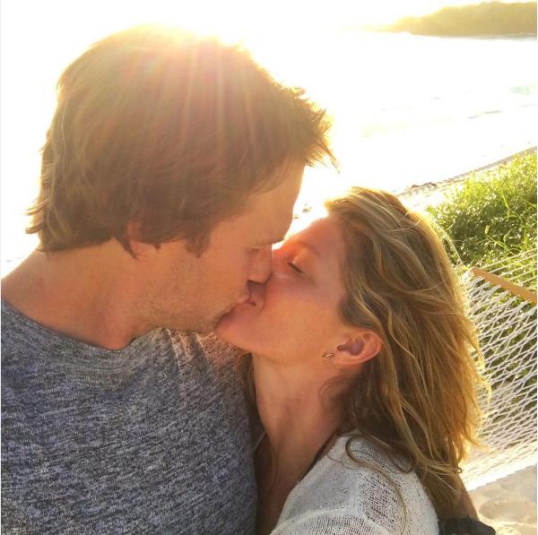 A modelo Gisele Bundchen e seu marido, Tom Brady (Foto: Instagram)