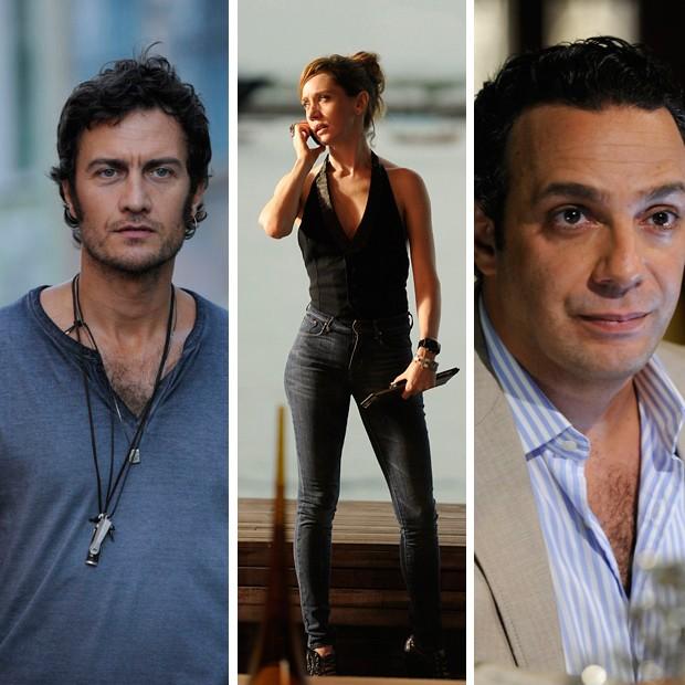 Paulinho (Gabriel Braga Nunes), Mara (Camila Morgado), Tuta (Marcelo Médici) (Foto: Rede Globo/Divulgação)