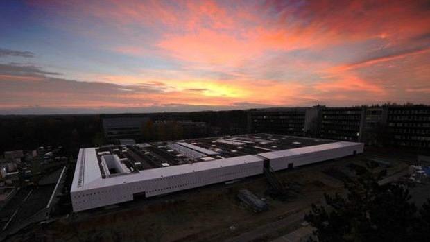 Vista de cima, construção parece um brinquedo de lego  (Foto: ESA)