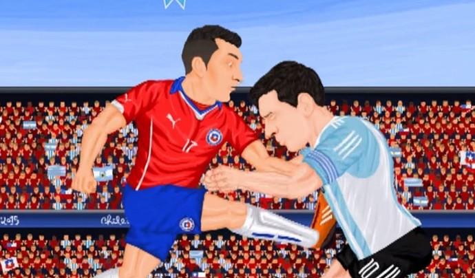 Messi Medel desenho animado