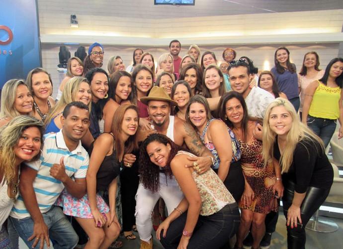 Fátima, Naldo e a plateia do programa  (Foto: Carolina Morgado/Gshow)