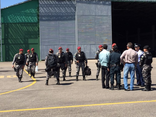 Força Nacional chega a Roraima para reforçar segurança nos presídios do estado (Foto: Inaê Brandão/G1 RR)