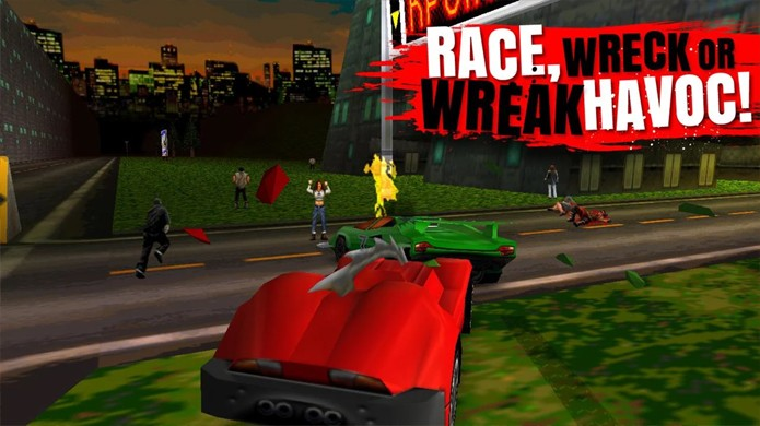 A violência e divertida jogabilidade de Carmageddon está disponível na íntegra para iOS e Android (Foto: Reprodução/Google Play)