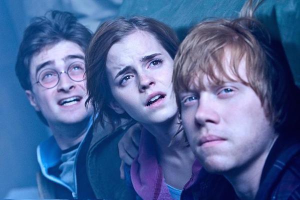 Daniel Radcliffe, Emma Watson e Rupert Grint como  Harry Potter, Hermione e Ron (Foto: Reprodução)