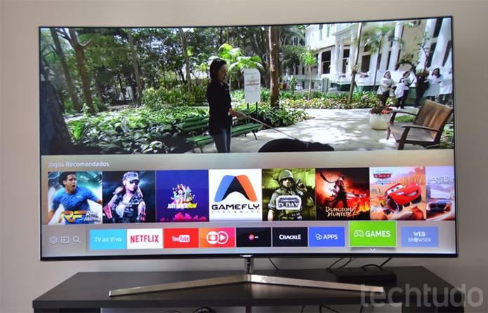 Smart TV Samsung KS9000 com 65 polegadas é item de luxo entre os eletrônicos (Foto: Melissa Cruz / TechTudo)