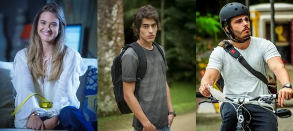 Lili, Rafa e William saem em busca de pessoas queridas (Foto: Divulgação/Alex Carvalho/João Cotta/Alex Carvalho)