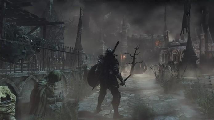 Ambientes mais sombrios e misteriosos também estão garantidos em Dark Souls 3 (Foto: Reprodução/OnlySP) (Foto: Ambientes mais sombrios e misteriosos também estão garantidos em Dark Souls 3 (Foto: Reprodução/OnlySP))