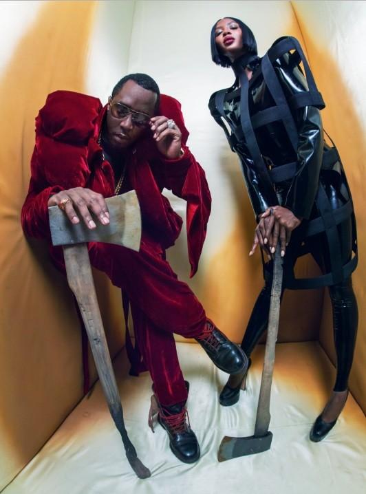 Naomi e Sean 'Diddy' Combs também estão no novo calendário  (Foto: Pirelli)