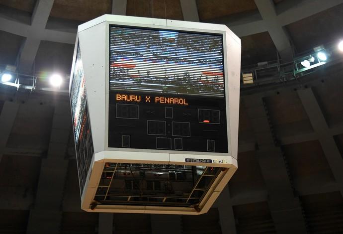placar maracanãzinho sem funcionar - liga das américas de basquete (Foto: André Durão)
