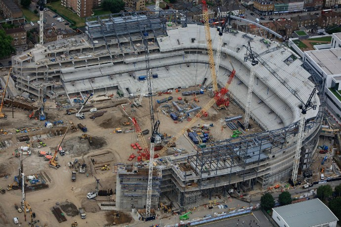 """BLOG: Após """"engolir"""" White Hart Lane, novo estádio do Tottenham ganha forma"""