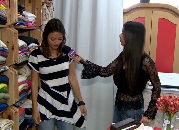 Bloqueira compõem looks em brecho e mostra no Mistura  (Foto: RBS TV/Reprodução)