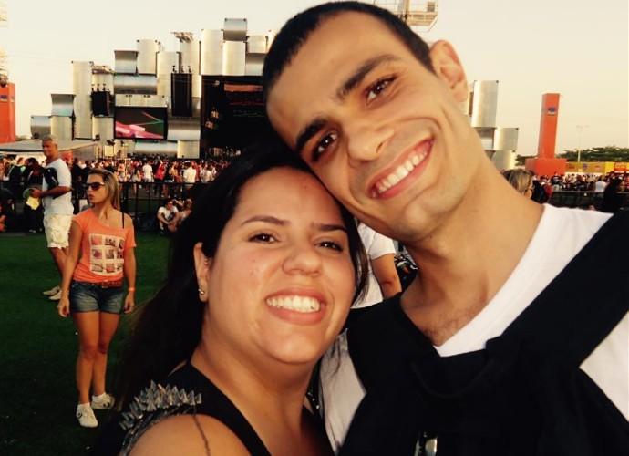 Carolina e David vão se casar no Rock in Rio 2015 (Foto: Arquivo Pessoal)