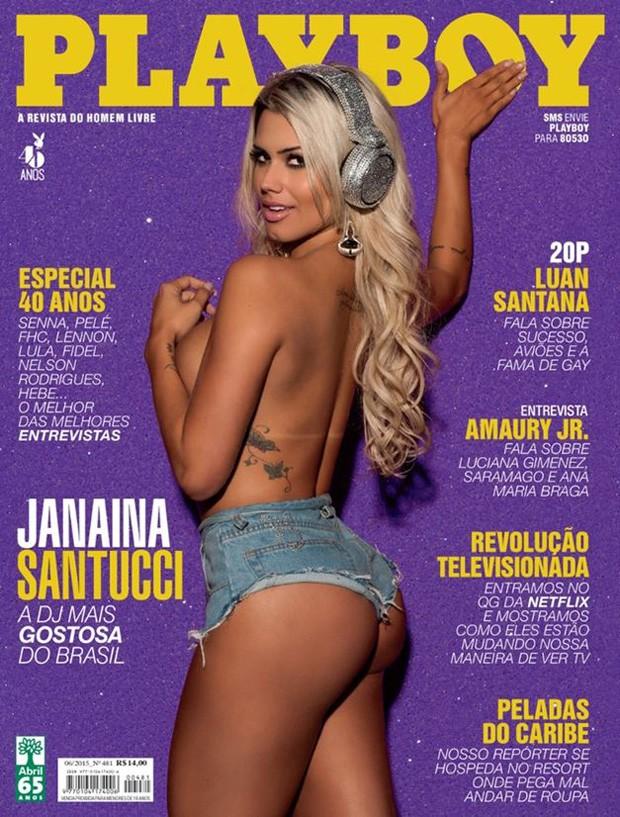 Janaina Santucci na 'Playboy' de junho de 2015 (Foto: Divulgação)