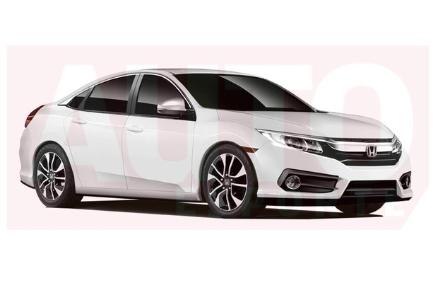 Veja projeção da nova geração do Honda Civic (Foto: Renato Aspromonte/Autoesporte)