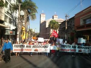 Professores encerraram greve após 6 dias. (Foto: Gésseca Ronfim / G1)