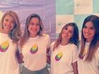 Grazi Massafera apoia projeto social comandado por Fernanda Gentil