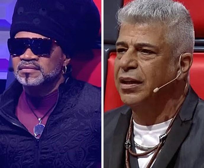 Brown e Lulu ainda têm cinco vozes em seus times  (Foto: TV Globo)