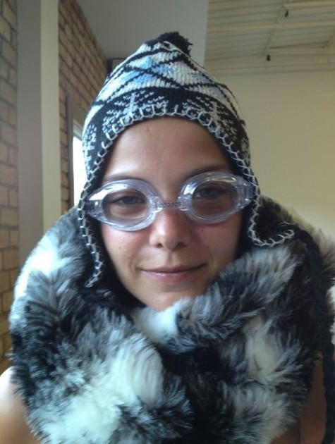 """Milena Toscano caracterizada para a peça """"Pirou"""" (Foto: Arquivo pessoal)"""