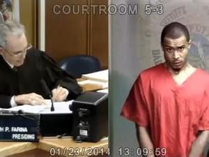 O rapper Khalil, que foi detido junto com Justin Bieber (Foto: Reprodução /TMZ)