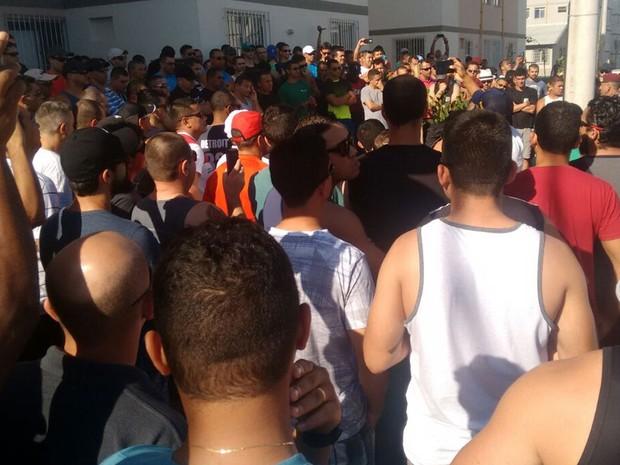 Agentes da Força Nacional reclamam de más condições em alojamentos e atraso nos pagamentos (Foto: Reprodução/Whatsapp)