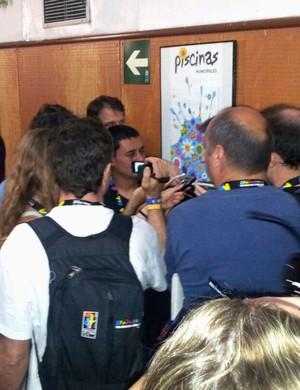 Brasil x Argentina basquete Jornalistas (Foto: Fabio Leme)