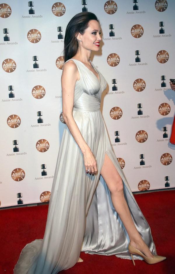 A atriz Angelina Jolie durante o Annie Awards 2018 (Foto: Getty Images)