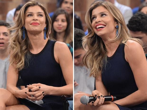 No aniversário do programa, Grazi arrasou no visual (Foto: Zé Paulo Cardeal / TV Globo)