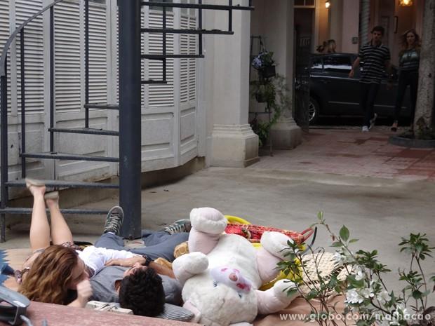 Anita e Ben tão no maior climinha <3 (Foto: Malhação/TV Globo)