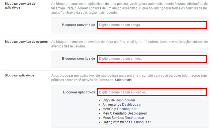 Rede social pode bloquear convites específicos de usuários (Foto: Reprodução/Facebook)