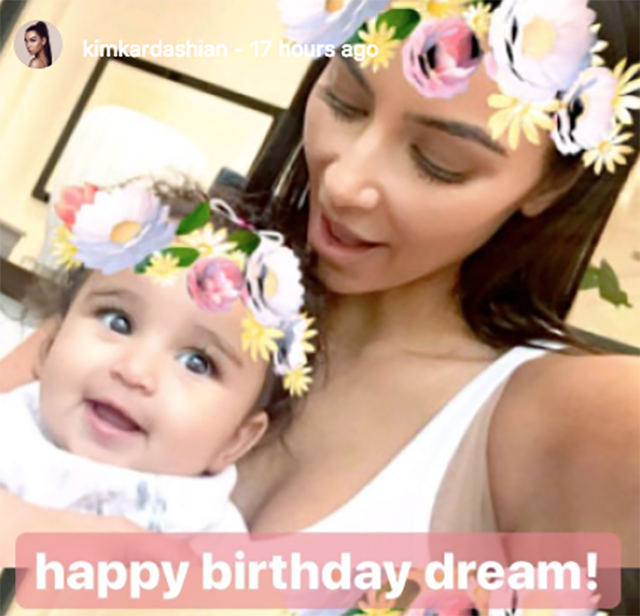 Kim e a sobrinha, Dream (Foto: reprodução/instagram)