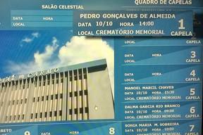 Quadro de avisos do Memorial do Carmo (Foto: Léo Martinez/EGO)
