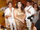 Fabiana Karla sofre acidente em festa de réveillon: 'É muita dor, gente!'