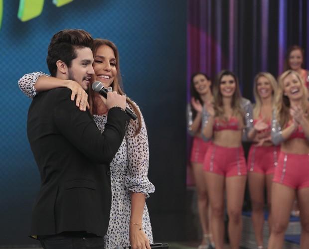 Luan Santana e Ivete Sangalo cantam 'Química do Amor' (Foto: Felipe Monteiro / Gshow)