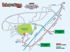 Mapa Carros Lollapalooza (Foto: Divulgao)